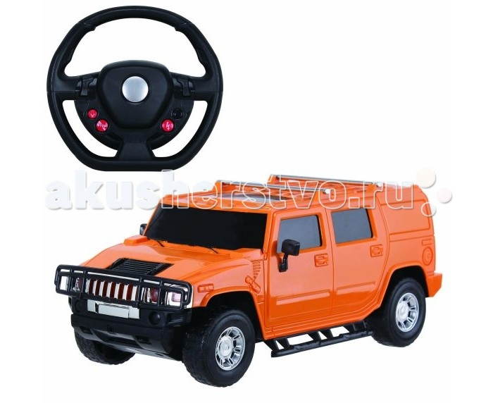 Пламенный мотор Машина на р/у Превосходство скорости Джип на аккумуляторе (свет) 1:16Машина на р/у Превосходство скорости Джип на аккумуляторе (свет) 1:16Яркая и необычная машинка Превосходство скорости, представленная в виде знаменитого внедорожника Hummer, придется по душе маленьким и взрослым любителям автомобилей. Игрушка ярко-оранжевого цвета и сделана из качественного пластика. В комплекте есть аккумуляторные батареи, пульт управления в виде руля и машинка. При езде у машинки ярко загораются передние и задние фары.   В комплекте:    Машина; Пульт управления в виде руля; Аккумуляторные батареи.  Основные характеристики:   Размер упаковки: 45 x 15 x 32 см Масштаб: 1:16 Скорость машинки: 10 км/ч.<br>
