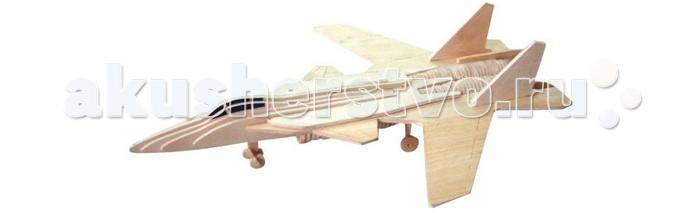Конструктор Wooden Toys Сборная модель Палубный истребительСборная модель Палубный истребительПалубный истребитель это сборная деревянная игрушка, 3D модель настоящего военного самолета - экспериментального истребителя Беркут.  Все вырубные детали располагаются на фанерной доске. Для сборки модели их необходимо предварительно выдавить с места расположения и собирать в последовательности, указанной в прилагаемой инструкции.  Для того чтобы собранная модель служила долго, можно проклеить места соединения деталей при сборке.   При желании собранную модель можно раскрасить, используя любые типы краски. Производитель рекомендует темперные краски. После раскрашивания модель можно покрыть лаком.  В процессе сборки модели ребенок развивает усидчивость, пространственное и абстрактное мышление.   Все детали сборной модели изготовлены из экологически чистой древесины.  Комплектация:  4 фанерных пластины с деталями и инструкция по сборке.<br>