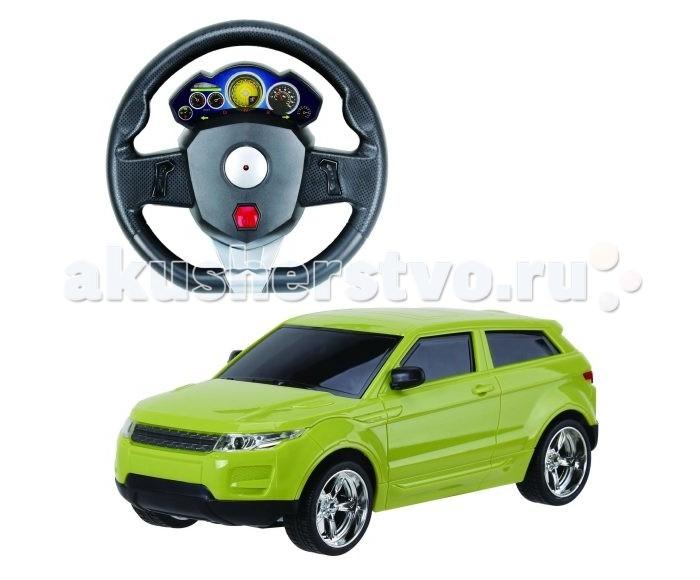 Пламенный мотор Машинка на р/у Превосходство скорости на аккумуляторе (свет) 1:18Машинка на р/у Превосходство скорости на аккумуляторе (свет) 1:18Стильный дизайн и необычный яркий цвет этой машины, управляемой при помощи дистанционного пульта, обязательно привлечет внимание ребенка. Она способна ездить во всех направлениях, а при езде срабатывает световой модуль (загораются фары). Пульт выполнен в форме руля, очень прост в использовании, поэтому шестилетнему ребенку не составит труда его освоить, а радиус действия составляет двадцать метров.  В комплекте:    Машина; Пульт управления в виде руля; Аккумуляторные батареи.  Основные характеристики:   Размер упаковки: 35 х 10 х 28 см Масштаб: 1:18 Скорость машинки: 10 км/ч. Радиус действия пульта: 20 м Количество каналов: 4<br>
