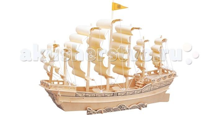 Конструктор Wooden Toys Сборная модель Парусник Династии МиньСборная модель Парусник Династии МиньПарусник Династии Минь это сборная деревянная игрушка - объемная 3D модель настоящего древнего парусника.  Все вырубные детали располагаются на фанерной доске. Для сборки модели их необходимо предварительно выдавить с места расположения и собирать в последовательности, указанной в прилагаемой инструкции.  Для того чтобы собранная модель служила долго, можно проклеить места соединения деталей при сборке.   При желании собранную модель можно раскрасить, используя любые типы краски. Производитель рекомендует темперные краски. После раскрашивания модель можно покрыть лаком.  В процессе сборки модели ребенок развивает усидчивость, пространственное и абстрактное мышление.   Детали сборной модели изготовлены из экологически чистой древесины.  Комплектация:  6 фанерных пластин с деталями и инструкция по сборке.<br>