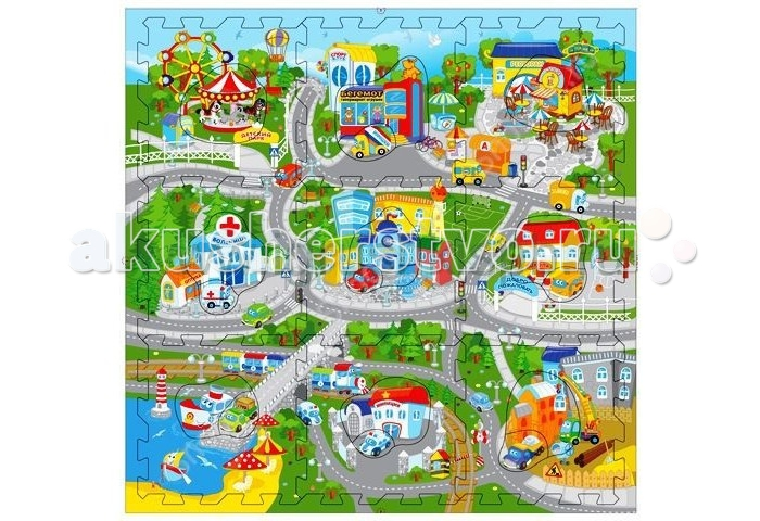 Игровой коврик Затейники Веселый город