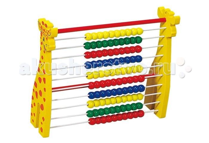 Деревянная игрушка Затейники Счеты Жираф