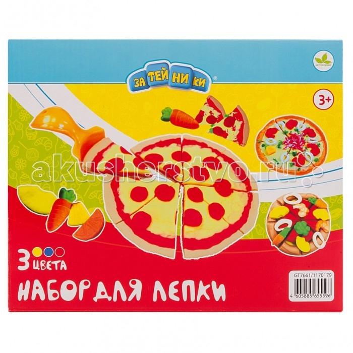 Затейники Набор для лепки ПиццаНабор для лепки ПиццаЗатейники Набор для лепки Пицца замечательный набор, созданный для детей старше 3 лет.   Особенности: Пластилин обладает удивительной пластичностью, не пачкается и не липнет к рукам и рабочей поверхности.  В процессе лепки развивается фантазия, воображение и мелкая моторика.  Дайте готовым поделкам высохнуть на воздухе в течение 24 часов.  Неиспользованную массу для лепки хранить в закрытых баночках.  Не съедобно!  После лепки вымыть руки!<br>