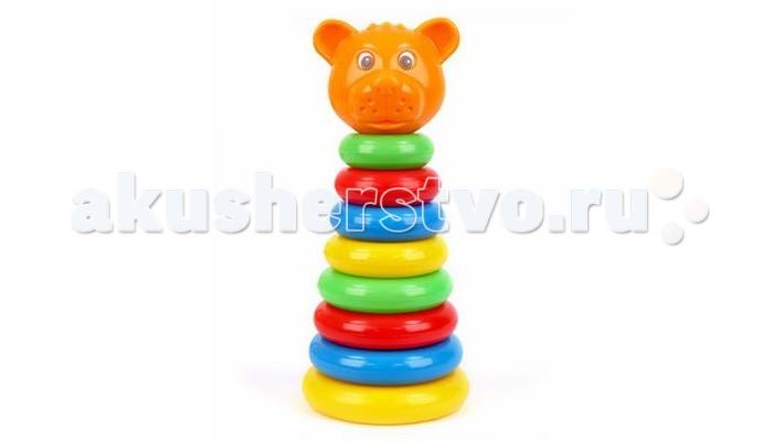Развивающая игрушка Затейники Пирамида Животные Медведь