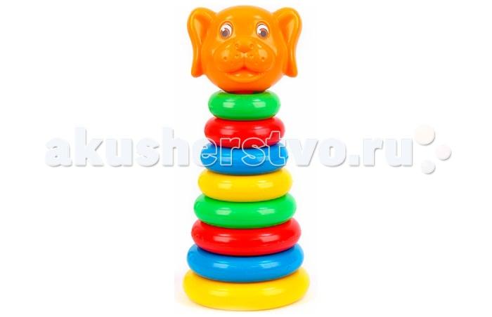 Развивающая игрушка Затейники Пирамида Животные СобакаПирамида Животные СобакаЗатейники Пирамида Животные Собака - это яркая развивающая игрушка.   Пирамидка - это настоящее дидактическое пособие для малышей и тренажер для развития мелкой моторики и координации движений рук.   В процессе игры ребенок знакомится с разными цветами и размерами предметов, учится соотносить и сравнивать предметы по этим признакам.   С помощью пирамидки можно освоить устный порядковый счет.  В комплекте основание пирамидки, 8 разноцветных колец.  Изготовлено из высококачественной пластмассы.<br>