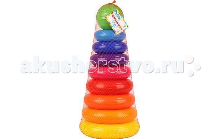 Развивающая игрушка Затейники Пирамида Гигант 8 колецПирамида Гигант 8 колецЗатейники Пирамида Гигант 8 колец - это яркая развивающая игрушка.   Пирамидка - это настоящее дидактическое пособие для малышей и тренажер для развития мелкой моторики и координации движений рук.   В процессе игры ребенок знакомится с разными цветами и размерами предметов, учится соотносить и сравнивать предметы по этим признакам.   С помощью пирамидки можно освоить устный порядковый счет.  В комплекте основание пирамидки, 8 разноцветных колец.  Изготовлено из высококачественной пластмассы.<br>