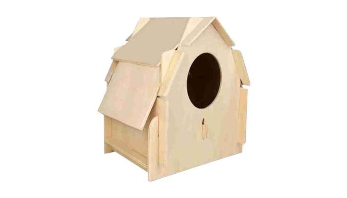 Конструктор Wooden Toys Сборная модель Скворечник 3Сборная модель Скворечник 3Скворечник 3 это сборный деревянный домик для птиц.   Все вырубные детали располагаются на фанерной доске. Для сборки модели их необходимо предварительно выдавить с места расположения и собирать в последовательности, указанной в прилагаемой инструкции.  Для того чтобы домик для птиц служил долго, можно проклеить места соединения деталей при сборке.   При желании собранный скворечник можно раскрасить, но только снаружи, используя любые типы краски. Производитель рекомендует темперные краски. После раскрашивания можно покрыть лаком.  В процессе сборки модели ребенок развивает усидчивость, пространственное и абстрактное мышление.   Все детали сборной модели изготовлены из экологически чистой древесины.  Комплектация:  5 фанерных пластины с деталями и инструкция по сборке.<br>