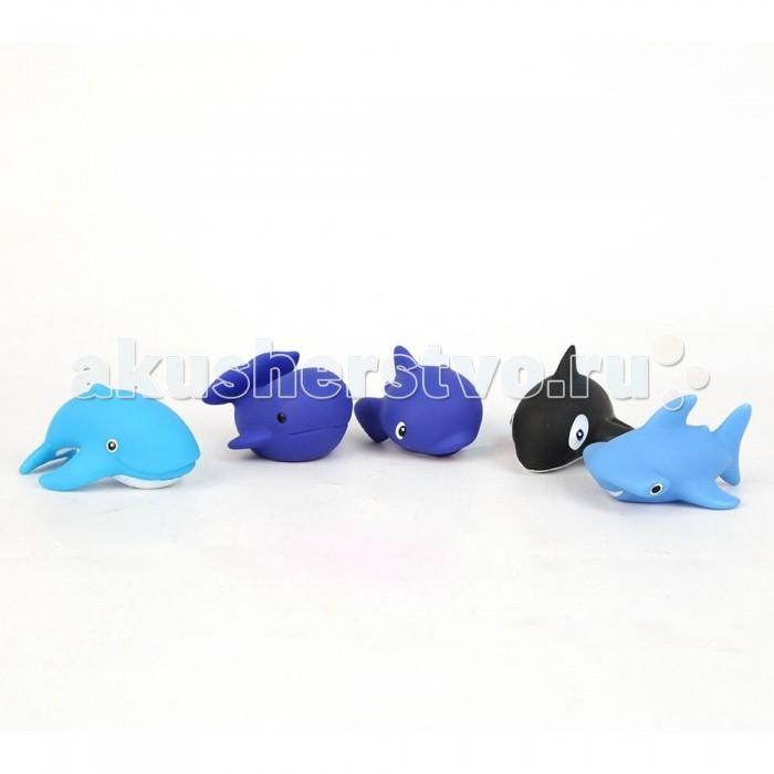 Затейники Набор игрушек для ванной Морские гиганты 5 шт.Набор игрушек для ванной Морские гиганты 5 шт.Затейники Набор игрушек для ванной Морские гиганты 5 шт. способствует развитию воображения, цветового восприятия, тактильных ощущений и мелкой моторики рук.  Особенности: С ярким набором игрушек для ванной Затейники Морские гиганты принимать водные процедуры станет еще веселее и приятнее. В набор входят 5 игрушек.  Игрушки могут брызгать водой и пищать.  Набор доставит ребенку большое удовольствие и поможет преодолеть страх перед купанием.<br>