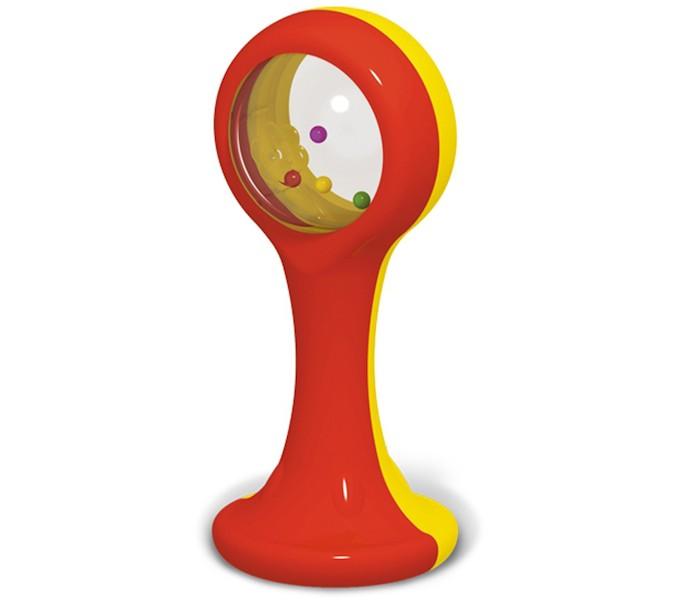 Погремушка Стеллар МаракасМаракасПогремушка Стеллар Маракас имеет интересный дизайн, она имеет два основных цвета: желтый с одной стороны и красный с другой.   Еще одной особенностью является то, что Маракаса устойчивое основание, на котором он стоит.   Ее можно поставить на столик для ребенка во время еды, с игрушкой процесс приема пищи не будет интереснее, а пройдет легче и без хлопот и уговоров.<br>