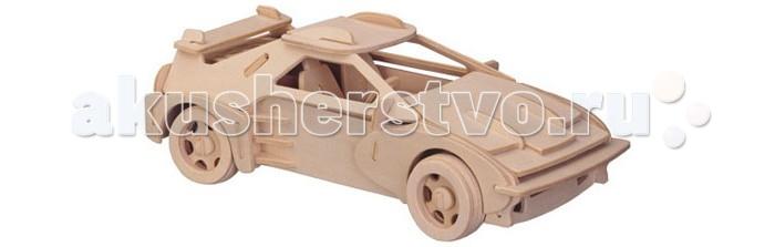Конструктор Wooden Toys Сборная модель СпорткарСборная модель СпорткарСпорткар это сборная деревянная игрушка, объемная 3D модель настоящего автомобиля Ферарри .   Все вырубные детали располагаются на фанерной доске. Для сборки модели их необходимо предварительно выдавить с места расположения и собирать в последовательности, указанной в прилагаемой инструкции.  Для того чтобы собранная модель служила долго, можно проклеить места соединения деталей при сборке.   При желании собранную модель можно раскрасить, используя любые типы краски. Производитель рекомендует темперные краски. После раскрашивания модель можно покрыть лаком.  В процессе сборки модели ребенок развивает усидчивость, пространственное и абстрактное мышление.   Все детали сборной модели изготовлены из экологически чистой древесины.  Комплектация:  5 фанерных пластин с деталями и инструкция по сборке.<br>