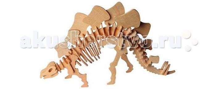 Конструктор Wooden Toys Сборная модель СтегозаврСборная модель СтегозаврСтегозавр это сборная деревянная игрушка - объемная модель настоящего древнего динозавра.  Все вырубные детали располагаются на фанерной доске. Для сборки модели их необходимо предварительно выдавить с места расположения и собирать в последовательности, указанной в прилагаемой инструкции.  Для того чтобы собранная модель служила долго, можно проклеить места соединения деталей при сборке.   При желании собранную модель можно раскрасить, используя любые типы краски. Производитель рекомендует темперные краски. После раскрашивания модель можно покрыть лаком.  В процессе сборки модели ребенок развивает усидчивость, пространственное и абстрактное мышление.   Все детали сборной модели изготовлены из экологически чистой древесины.  Комплектация:  4 фанерных пластины с деталями и инструкция по сборке.<br>