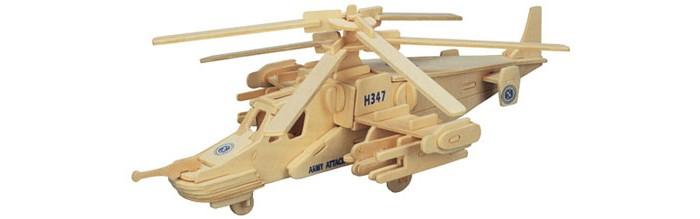 Конструктор Wooden Toys Сборная модель Вертолет Черная акула Ка-50Сборная модель Вертолет Черная акула Ка-50Вертолет Черная акула это сборная деревянная игрушка, объемная модель настоящего боевого ударного вертолета Ка-50.   Все вырубные детали располагаются на фанерной доске. Для сборки модели их необходимо предварительно выдавить с места расположения и собирать в последовательности, указанной в прилагаемой инструкции.  Для того чтобы собранная модель служила долго, можно проклеить места соединения деталей при сборке.   При желании собранную модель можно раскрасить, используя любые типы краски. Производитель рекомендует темперные краски. После раскрашивания модель можно покрыть лаком.  В процессе сборки модели ребенок развивает усидчивость, пространственное и абстрактное мышление.   Все детали сборной модели изготовлены из экологически чистой древесины.  Комплектация:  4 фанерных пластины с деталями и инструкция по сборке.<br>