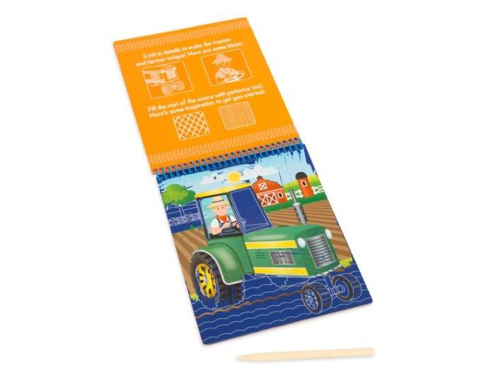 Melissa &amp; Doug Scratch Art ТранспортScratch Art ТранспортMelissa & Doug Scratch Art Транспорту  Блокнот для рисования в технике Scratch Art. В комплекте специальный стилус для рисования и 12 картинок для рисования различных видов транспорта.<br>