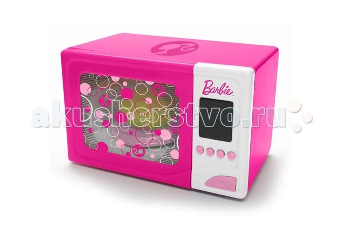 Barbie Микроволновая печьМикроволновая печьМикроволновая печь Barbie имеет оригинальный дизайн, яркий цвет притягивает взгляд ребенка, словно магнит.   Внутри прибора, горит свет, как в настоящей микроволновке.   Батарейки входят в комплектацию данного товара.<br>