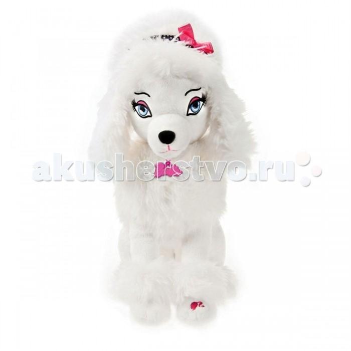 Интерактивная игрушка Barbie Собачка SequinСобачка SequinИнтерактивная игрушка Barbie Собачка Sequin  Секвин выглядит как настоящая модница Голливуда, ведь на ней есть гламурные розовые очки, ободок и ошейник с подвеской Barbie.   Накрась Секвин губы – и услышишь звук поцелуя, а потом расчеши ее щеточкой – и она радостно залает!  В комплекте губная помада, расческа и очки.<br>