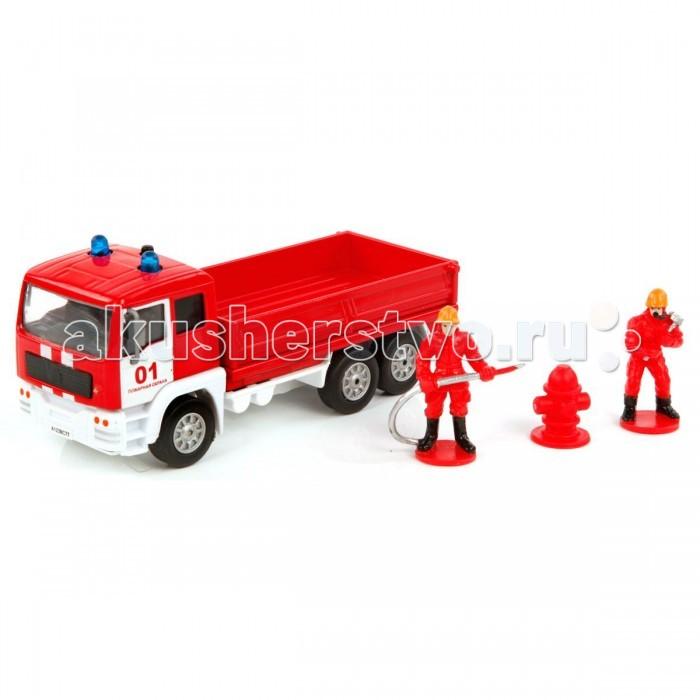 Пламенный мотор Игровой набор Пожарная охрана (свет, звук) 1:32Игровой набор Пожарная охрана (свет, звук) 1:32Игровой набор Пожарная охрана понравится маленьким поклонникам игр в спасателей. В комплекте есть специально оснащенная машина, пожарники и колонка для проведения успешных пожарно-спасательных операций. Встроенный инерционный механизм создает световые и звуковые эффекты при нажатии на кнопку, которая находится на крыше машины.  Комплектация набора:  Машинка; 2 фигурки пожарных; Пожарная колонка.  Основные характеристики:   Размер упаковки: 21 х 9 х 14 см Масштаб: 1:32<br>