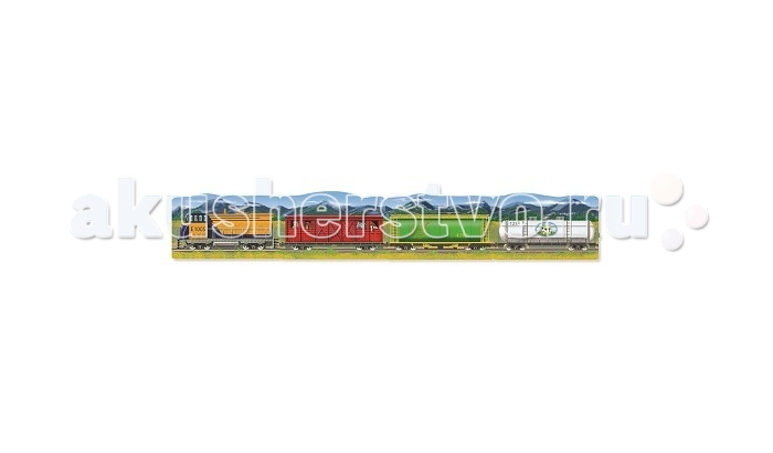 Melissa &amp; Doug Пазл Поезд 96 элементовПазл Поезд 96 элементовПазл Поезд 96 элементов Melissa & Doug  Пазл из 96 элементов. Экстра - толстые части на 20% толще обычного. Поверхность легко очищается, и это позволяет долго сохранять хороший внешний вид.<br>