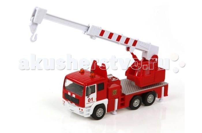 Пламенный мотор Металлическая машина По дорогам России Пожарный кран (свет, звук) 1:32