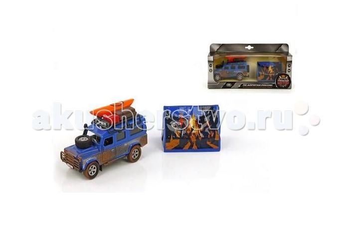 Пламенный мотор Игровой набор По дорогам России Land Rover Путешествие вокруг света 1:32