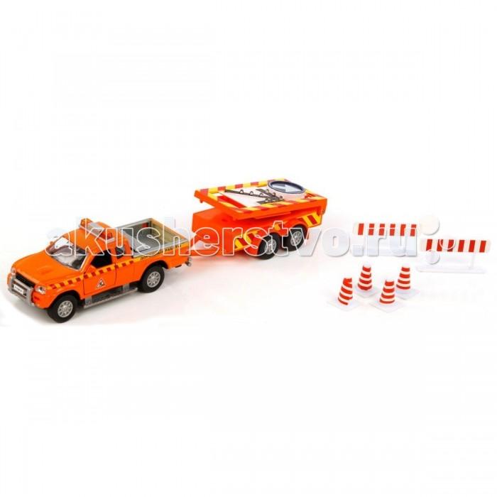 Пламенный мотор Игровой набор Mitsubishi Дорожные работы (свет) 1:32