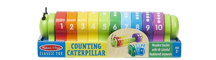 Развивающая игрушка Melissa &amp; Doug Деревянная гусеница-счетыДеревянная гусеница-счетыДеревянная гусеница-счеты Melissa & Doug  Развивает мелкую моторику и зрительно-моторную координацию, а также помогает развивать математические навыки.<br>