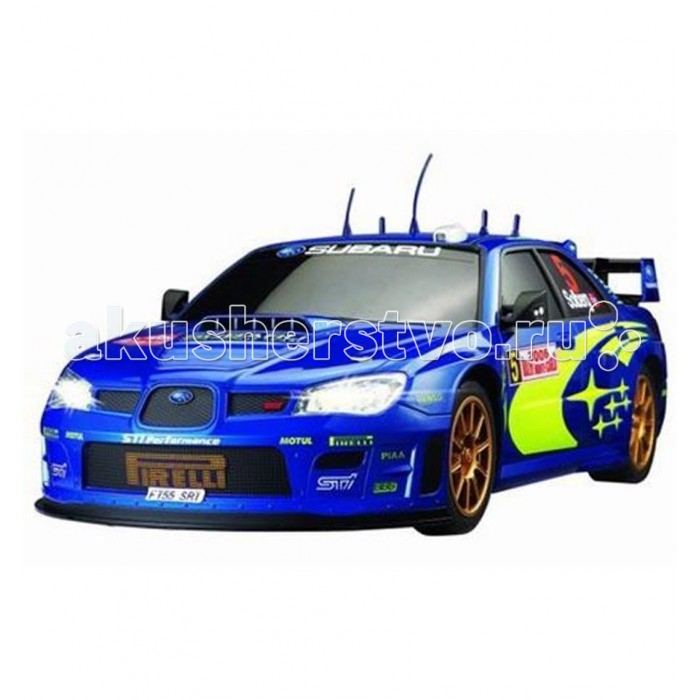 Auldey Машина на батарейках радиуоправляемая с зарядным устройством SUBARU IMPREZA LC227650Машина на батарейках радиуоправляемая с зарядным устройством SUBARU IMPREZA LC227650Subaru Impreza Auldey — это очень быстрая и максимально реалистичная копия знаменитого автомобиля, выполненная в масштабе 1:10. Машинка поставляется с пультом пистолетного типа, прекрасно подходит для гонок на улице и дома.  Subaru Impreza от Auldey — это отличный подарок для любого начинающего автомобилиста. Машинка выполнена в масштабе 1:10, то есть длина модели — 50 см! Эта большая игрушка может моментально разгонятся до максимальной скорости 10 км/ч. Корпус выполнен из очень лёгкого и прочного материала, который не утяжеляет модель, то есть практически не влияет на скоростные качества. Корпус легко выдержит даже достаточно серьёзное лобовое столкновение. Особого внимания заслуживает кузов, который в точности повторяет оригинальный автомобиль. Машинка отличается прекрасной манёвренностью, она прекрасно вписывается любые повороты. Модель — полноприводная.  Важной особенностью Auldey 1:10 SUBARU IMPREZA LC227650 является комплект поставки. Машинка работает от аккумулятора, который уже находится в комплекте вместе с зарядным устройством. Приятным дополнением станет пульт управления пистолетного типа (именно такая форма используется в хоббийном моделизме), пульт максимально прост в управлении и очень удобен. Он обеспечивает дальность сигнала до 20 метров, то есть машинка идеально подходит для заездов в помещении и на готовых уличных трассах.  Работает пульт от 2 батареек типа АА (нет в комплекте).<br>