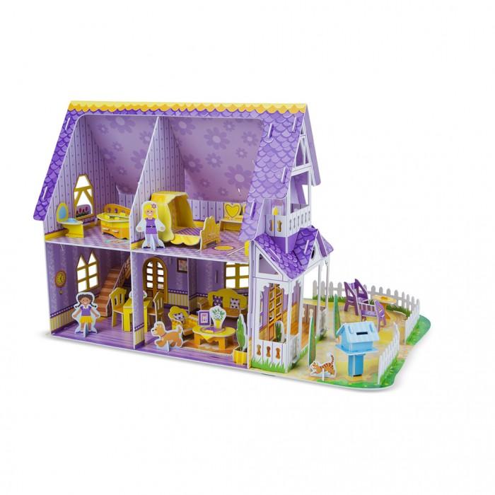 Melissa &amp; Doug Пазл 3D Пурпурный домик для куклыПазл 3D Пурпурный домик для куклыПазл 3D Пурпурный домик для куклы Melissa & Doug  Новая 3D головоломка от Melissa&Doug.   Подробная инструкция поможет детям соединить более 100 деталей без клея и ножниц. И вот, домик  готов для игр! Набор включает в себя также мебель для домика и множество игровых фигурок.<br>