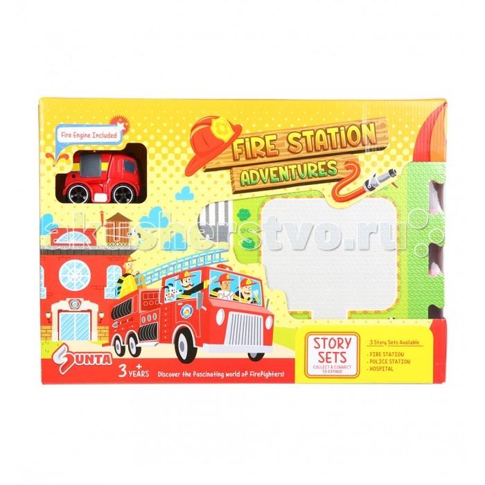 Игровой коврик Sunta Коврик-пазл Пожарная станция 62х62 см