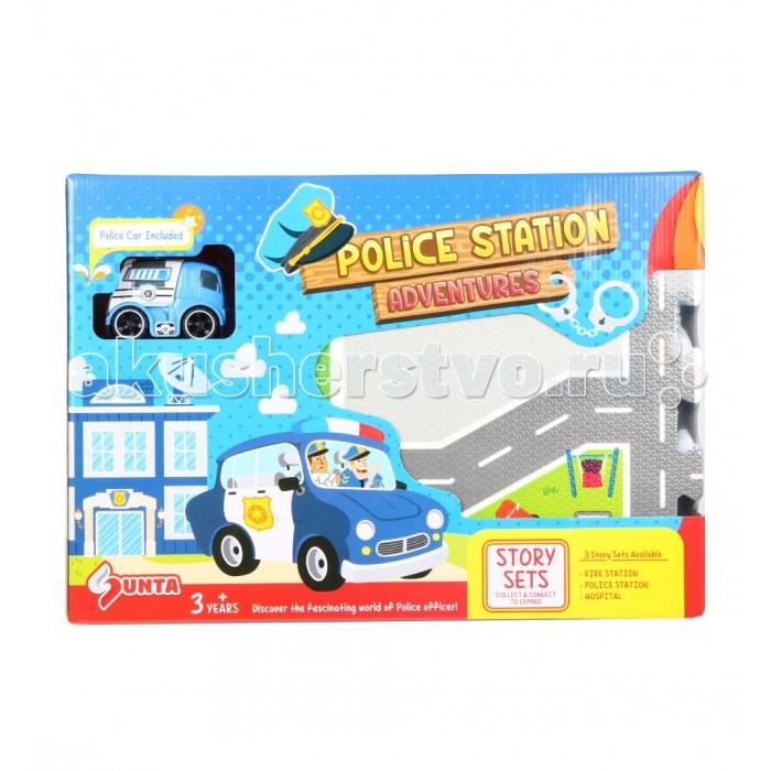 Игровой коврик Sunta Коврик-пазл Полицейский участок 62х62 см