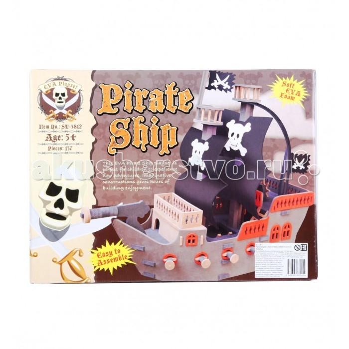 Конструктор Sunta Корабль пиратскийКорабль пиратскийSunta Конструктор корабль пиратский   Количество деталей: 137 материал: этиленвинилацетат Размер корабля: 20 х 50 х 44 см Возраст: от 5 лет<br>
