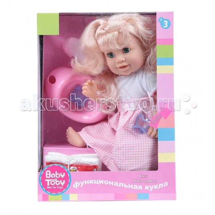 Wei Tai Toys Кукла с аксессуарами 35 см wtt6407Кукла с аксессуарами 35 см wtt6407Wei Tai Toys Кукла с аксессуарами 35 см wtt6407  Эта очаровательная кукла приведет в восторг любую малышку! Ваша малышка больше не будет скучать, ведь вместе с этой куклой она сможет придумать множество увлекательных развлечений.   В наборе: кукла аксессуары  Тип батареек: 3 х ААА Батарейки в комплекте  Возраст: от 3 лет<br>