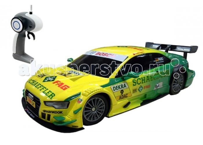 Auldey Машина на батарейках радиуоправляемая с зарядным устройством AUDI A5 DTM LC258720-4Машина на батарейках радиуоправляемая с зарядным устройством AUDI A5 DTM LC258720-4Удивительная копия популярной Audi a5 в формате 1:16 станет отличным подарком для вашего ребенка.  Машинка от компании Auldey является точной копией своего старшего брата AUDI A5 DTM. Несомненно, ваш маленький гонщик мгновенно разберется и надолго заинтересуется этой радиоуправляемой машинкой.  Данная модель собирается из прочного ABS пластика. Также хотим отметить весьма низкий вес игрушки. Вы с легкостью сможете взять машинку с собой на улицу или в дорогу.  Удивительная копия  AUDI A5 DTM 1:16 отлично чувствует себя на любых видах поверхности и способна ездить в любом направлении, развивая при этом скорость не более 10 км/ч.  Ребенку не составит проблем разобраться с управлением радиоуправляемой машинки из-за легкого в освоении пульта. Пульт от  AUDI A5 DTM 1:16   сделан  из ударостойкого АBS пластика и готов пережить многочисленные удары и падения.<br>