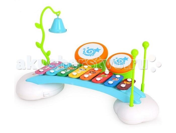 Игровой центр Huile Toys Музыкальный центр для малышейМузыкальный центр для малышейHuile toys Музыкальный центр для малышей Y61171  С помощью этого замечательного набора музыкальных инструментов ребенок сможет попробовать себя в роли музыканта, формируя свои первые мелодии и знакомясь с многообразием звуков, издаваемых предложенными в наборе инструментами.   В комплекте предусмотрены такие инструменты, как ксилофон, колокольчик, 2 минибарабана (к барабанам также прилагаются еще и 2 палочки). Для ребенка будет большим удовольствием окунуться в мир музыки вместе с новеньким набором.  Размер игрушки: 39х22х22 см Длина палочек: 17 см Размер карточек: 9,5х6,5 см<br>