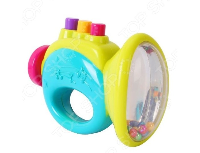 Погремушка Huile Toys ДудочкаДудочкаHuile toys Погремушка Дудочка Y61214  Детская погремушка Дудочка развеселит малыша или поможет успокоить его пред наступлением ночи, а также поспособствует крепкому сну после веселый игры. Погремушка изготовлена из яркого пластика в форме дудочки, на верхней части которой расположены кнопки. Когда малыш будет нажимать на эти разноцветные кнопки, то дудочка начнет издавать забавные звуки, которые несомненно порадуют ребенка. Такая веселая погремушка не позволит заскучать ребенку.  Размер игрушки: 8 x 12.7 см.<br>