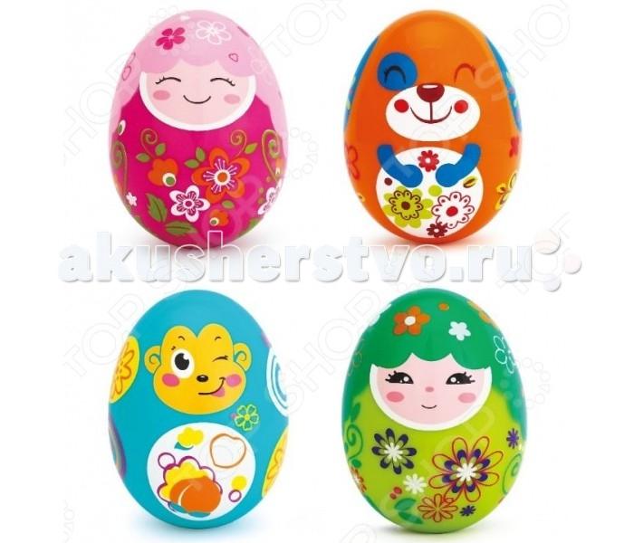 Погремушка Huile Toys Погремушки-неваляшкиПогремушки-неваляшкиHuile toys Погремушки-неваляшки Y61235  Яркая, красочная погремушка-неваляшка из пластика Egg Shaker сделана в форме разноцветного яйца с нарисованной забавной рожицей. Игрушка выполнена по принципу неваляшки, что позволяет ей всегда возвращаться в исходное положение, а когда малыш начнет трясти ее, мягкое звучание погремушки позволит ему в полной мере насладиться процессом игры.  Внимание! Цена указана за одну игрушку.<br>