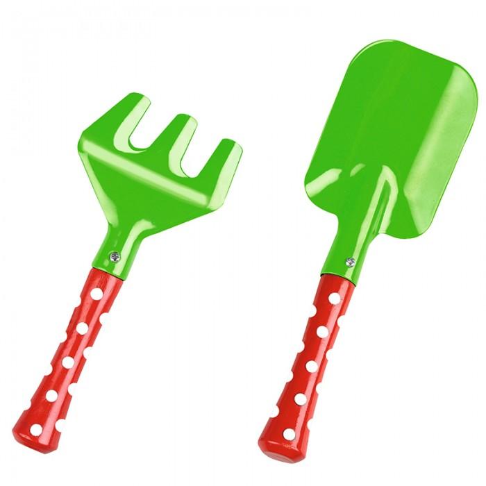 Spiegelburg Садовые инструменты Garden 10225Садовые инструменты Garden 10225SpiegelburgСадовые инструменты Garden 10225 - это яркие и прочные грабли и лопатка. Они станут незаменимыми помощниками Ваших деток на даче или в песочнице.   Ручки сделаны из дерева. Ребенку будет легко копать и делать куличики, делать грядки и сажать рассаду или цветы. С такими садовыми инструментами Ваш малыш будет чувствовать себя настоящим садоводом.   Spiegelburg - известный немецкий производитель качественных товаров для детей самых разных возрастных групп.  В комплекте: грабли, лопатка.  Размер: лопатка 20х6,5 см, грабли 15х7 см<br>
