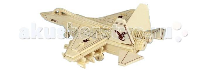 Конструктор Wooden Toys Сборная модель Многоцелевой истребительСборная модель Многоцелевой истребительМногоцелевой истребитель это сборная деревянная игрушка, объемная модель настоящего военного самолета.   Все вырубные детали располагаются на фанерной доске. Для сборки модели их необходимо предварительно выдавить с места расположения и собирать в последовательности, указанной в прилагаемой инструкции.  Для того чтобы собранная модель служила долго, можно проклеить места соединения деталей при сборке.   При желании собранную модель можно раскрасить, используя любые типы краски. Производитель рекомендует темперные краски. После раскрашивания модель можно покрыть лаком.  В процессе сборки модели ребенок развивает усидчивость, пространственное и абстрактное мышление.   Все детали сборной модели изготовлены из экологически чистой древесины.  Комплектация:  Фанерные пластины с деталями и инструкция по сборке.<br>