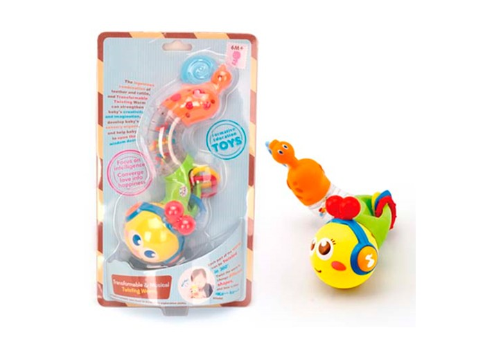 Развивающая игрушка Huile Toys Гусеничка для малышейГусеничка для малышейHuile toys Игрушка развивающая Гусеничка для малышей Y61197  Гусеничка станет новым другом для малыша, ведь она издает веселые звуки и приятно светится. С ее помощью ребенок будет играючи развивать мелкую моторику рук, цветовое и слуховое восприятие. Сделана игрушка из нетоксичного и не аллергенного пластика, так что ее можно без опасения дать маленьким детям.  Тип батареек: 2 x AA / LR6 1.5V (пальчиковые).Не входят в комплект.<br>