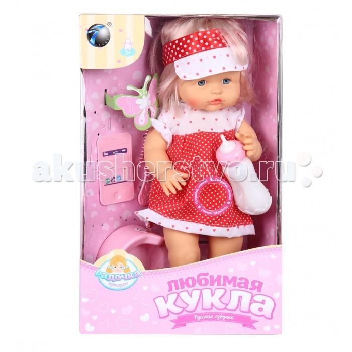 Tongde Кукла-пупс в платье с аксессуарами 39 смКукла-пупс в платье с аксессуарами 39 смTongde Кукла-пупс в платье с аксессуарами 39 см  Чудесный пупс в красивых платье и кепочке обязательно понравится Вашей дочурке. В набор входят горшок и бутылочка, который помогут разнообразить игру дочки-матери и сделать ее максимально реалистичной.  Игрушка отлично подходит для сюжетно-ролевых игр, которые способствуют развитию воображения и абстрактного мышления. Игрушка изготовлена из высококачественных и экологически чистых материалов, абсолютно безопасных для ребенка.  В наборе: горшок бутылочка расческа телефон  Возраст: от 3 лет Высота куклы: 39 см Работает от 3-х батареек<br>