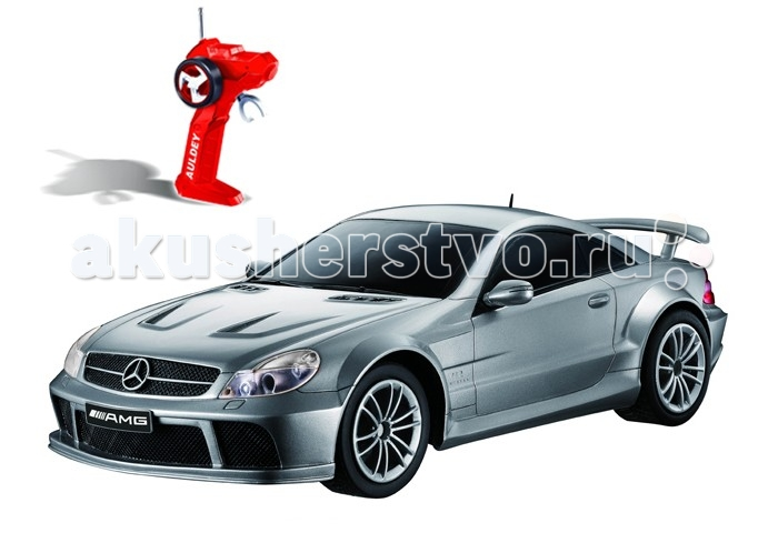 Auldey Машина на батарейках радиуоправляемая Mercedes-Benz SL65 LC296760-8Машина на батарейках радиуоправляемая Mercedes-Benz SL65 LC296760-8Полнофункциональная радиоуправляемая модель автомобиля Mercedes-Benz SL65 серебристого цвета выполнена в весьма реалистичном виде и является практически точной копией настоящего автомобиля.  Обладает способностью передвигаться вперед и назад, влево и вправо, останавливаться.  Автомобиль оснащен по последнему слову игрушечной техники: он имеет профессиональное шасси, полнофункциональный радиоконтроль, свет передних и задних фар, независимую подвеску передних и задних колес, что позволяет ему имитировать маневры настоящей машины.  Радиус действия пульта — не менее 15 м. Скорость — 9 км/ч, в турборежиме — 11 км/ч.  Питание: 2 батарейки типа АА для пульта управления, 4 батарейки типа АА для машинки.  С такой игрушкой можно устраивать импровизированные соревнования машинок как дома, так и на улице.<br>