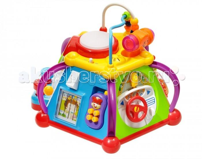 Huile Toys Игровой центр для малышей со световыми и звуковыми эффектамиИгровой центр для малышей со световыми и звуковыми эффектамиHuile toys Игровой центр для малышей со световыми и звуковыми эффектами Y61078  Happy Small World - это игровой центр для малышей, проводя время с которым, ребенок будет не только веселиться, но и всесторонне развиваться, получая первые представления о цветах и формах, а также развивая свои логику и дедукцию. Игровой центр может воспроизводить звуки, а также излучать свет, что обязательно привлечет внимание малыша, поэтому с игрушкой он не будет расставаться на протяжении долгого времени.  Тип батареек: 3 x AA / LR6 1.5V (пальчиковые). Не входят в комплект.<br>