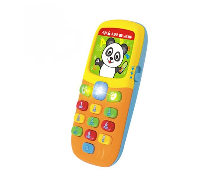 Huile Toys Игрушка детская Музыкальный телефончикИгрушка детская Музыкальный телефончикHuile toys Игрушка детская Музыкальный телефончик Y61176  Детская игрушка Музыкальный телефон развлечет малыша, ведь при нажатии на кнопочки можно услышать несколько веселых мелодий, смех, фразы на английском языке, звук клавиш набора номера. Нажимая на клавиши Музыкального телефона можно выбирать режимы: музыка, цвет, цифры. Игрушка работает в двух режимах громкости. Музыкальный телефон выполнен из яркого цветного пластика.   Тип батареек: 2 x AAA / LR0.3 1.5V (мизинчиковые). Не входят в комплект.<br>