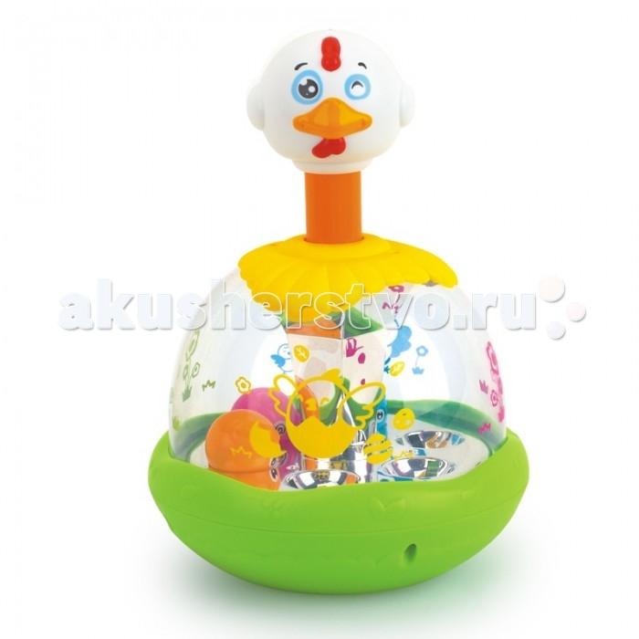 Развивающая игрушка Huile Toys Механическая Утка-каруселькаМеханическая Утка-каруселькаHuile toys Игрушка детская механическая Утка-каруселька Y61196  Утка-каруселька - это увлекательная игрушка для малыша. Игрушка выполнена в виде утки с прозрачным брюшком, в котором находятся разноцветные шарики. При нажатии на голову игрушки происходит механическое вращение диска внутри уточки и шарики начинают подпрыгивать. Оригинальный дизайн и яркая расцветка привлечет внимание любого ребенка.<br>