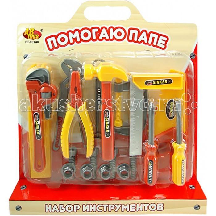 ABtoys Помогаю Папе Набор инструментов на блистере с ручкойПомогаю Папе Набор инструментов на блистере с ручкойABtoys Помогаю Папе Набор инструментов на блистере с ручкой  необходимый элемент в игровой комнате каждого мальчика.   В наборе: клещи 2 вида, молоток, пила, пассатижы, гаечный ключ, отвертка (2 вида), планки 3 вида (2 маленькие, 1 средняя, 1 большая), болты с гайками (4х4).   Игрушки с ранних лет научат малыша первичным навыкам работы с инструментами.<br>