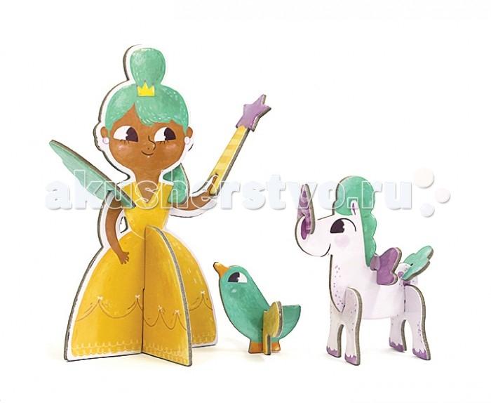 Конструктор Krooom Игрушки из картона: 3D пазл ПринцессаИгрушки из картона: 3D пазл ПринцессаKrooom Игрушки из картона от 3 лет: 3D пазл Принцесса.  3d пазл Принцесса, состоящий из 13 ярких взаимозаменяемых частей, дает возможность вашему ребенку самостоятельно собрать этого персонажа. 3d пазл станет отличным украшением любой комнаты. Выполнен из перерабатываемого картона. Высота до 17 см.<br>