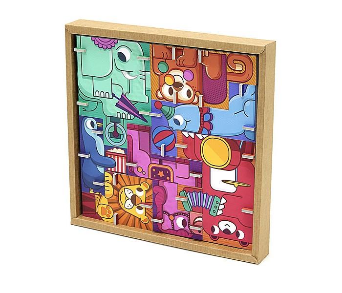 Конструктор Krooom Игрушки из картона: 3D пазл - головоломка ЦиркИгрушки из картона: 3D пазл - головоломка ЦиркKrooom Игрушки из картона от 3 лет: 3D пазл - головоломка Цирк.  Новые наборы Krooom бросают вам вызов! Соберите фигурку из семи животны х  и начните ваше приключение! Постарайтесь построить самую высокую башню.   Если  хотите, вы можете собрать квадратную головоломку внутри коробки. Будьте аккуратны и подумайте! Только одна комбинация будет верной! Размер: 11 х 14,5 х 3,5<br>