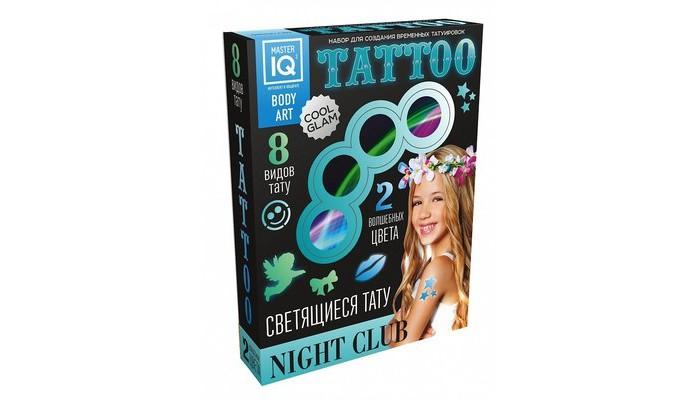 Каррас Набор для временных татуировок NIGHT СLUB светящиеся С005