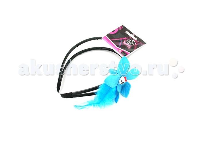 Monster High Ободок Лагуна БлюОбодок Лагуна БлюMonster High Ободок Лагуна Блю.  Ободок для волос Франки Штейн ТМ Monster High декорированный голубым бантом, цепочками и черепом, – это мода для стильных девушек. Товар сертифицирован.<br>