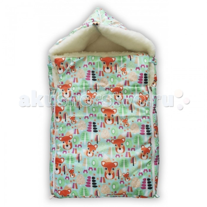 Зимний конверт LovelyCare на овчине в коляску-санки Лисятана овчине в коляску-санки ЛисятаЗимний конверт на выписку на овчине снабжен двумя молниями по бокам, что позволяет легко расстегнуть конверт, а также регулировать глубину отворота. С помощью отворота Вы можете либо слегка прикрыть тело ребенка, либо полностью закрыть, оставив только личико. Отворот фиксируется двумя кнопками  Далее конверт используется для повседневных прогулок в коляске, а также санках, растегнув молнию на капюшоне. С конвертом Вы будете легко и быстро, не беспокоя ребенка, собираться на прогулку, а вернувшись домой достаточно растегнуть молнии по бокам, отвернуть верхнюю планку и оставить ребенка смотреть свой сладкий сон  ТЕМПЕРАТУРНЫЙ РЕЖИМ: до -20 градусов<br>