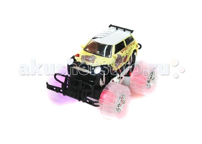 Пламенный мотор Инерционная машинrа Автопарк Бигфут (свет, звук)Инерционная машинrа Автопарк Бигфут (свет, звук)Игрушечная машинка из серии Автопарк имеет большие полупрозрачные колеса, в которые встроены светодиоды, и может проехать пару метров самостоятельно. Во время движения инерционная игрушка воспроизводит звуковые эффекты, с которыми любая гонка будет веселее. Машинка с противоударным бампером станет достойным дополнением к детской коллекции игрушечный автомобилей.  Внимание!  Цветовое исполнение игрушки варьируется и может отличаться от представленного на фото.  Основные характеристики:   Размер упаковки: 33 х 16 х 13 см<br>
